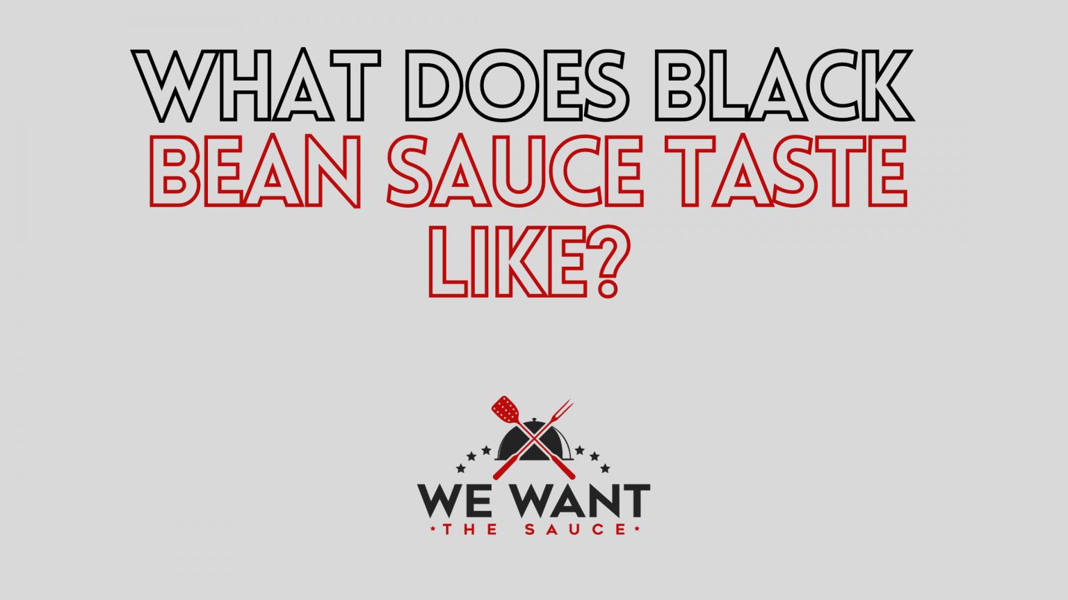 What Does Black Bean Sauce Taste Like